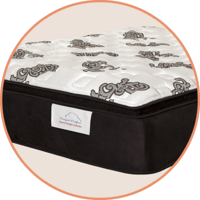 """Tranquil Touch  Luxurious durable knit cover encases 1½"""" gel-infused foam Extra layers of foam and a nano spring for a luxurious feel Quantum® Edge Steel Perimeter (compatible with adjustable bases) for comfortable support all the way to the edge Comfort type: Intermediate"""