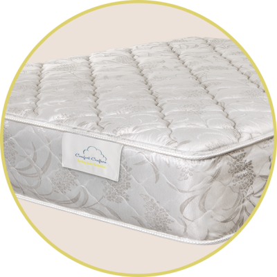 "Nocturne (Plush)  1½"" quilted foam 2"" foam for added comfort and support Comfort type: Plush"